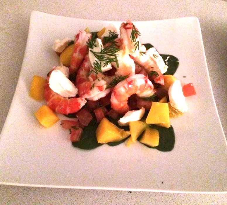 Prawn Salad with Lebneh & Mango