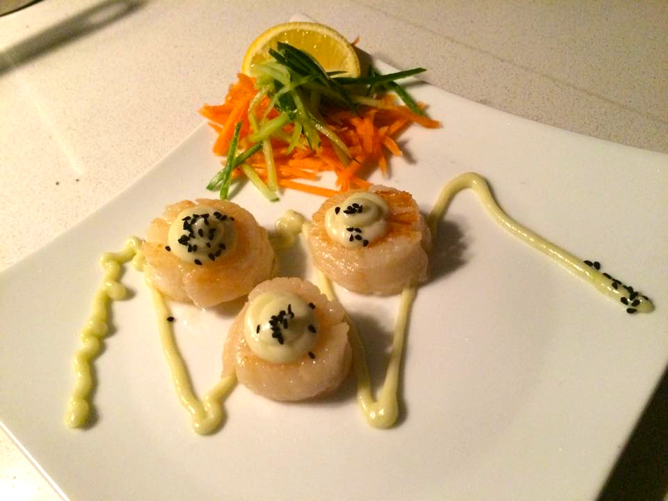 Seared Scallops with Wasabi Mayonnaise