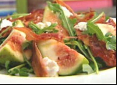 Fig & Prosciutto with Goats Cheese Salad