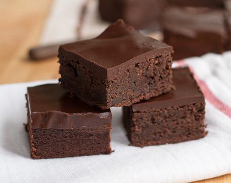 Chocolate Brownie with Coconut Ganache